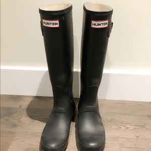 💕 Hunter Original Rain Boots Black Size 5